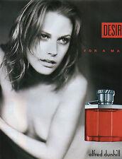 Publicité Advertising 2001  Parfum  DESIRE  alfred dunhill