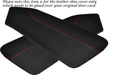 RED STITCH FITS HYUNDAI COUPE 02-09 2 X DOOR CARD LEATHER PERFORATED COVERS ONLY