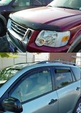Ford Explorer 2006 - 2010 Bug Deflector Shield & In-Channel Wind Deflector Combo