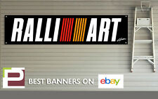 Ralliart Mitsubishi Banner for Workshop, Garage, Office, Pit Lane, Motorsport