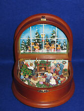 "DANBURY MINT BOYDS ""THE BEARY MERRY CHRISTMAS"" MUSIC BOX - NIB"