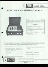 Original Factory Altec Lansing 1206A Control Console Owner's Instruction Manual