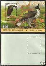 MALAYSIA 1996 Birds of Prey ovpt China '96 MS Mint MNH