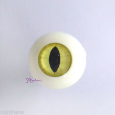 Super Dollfie SD Hujoo Berry Yomi Doll Acrylic Full Round Cat Eye 20mm Yellow