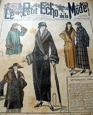VTG 1920s PARIS FASHION & SEWING PATTERN MAGAZINE LE PETIT ECHO de la MODE 1923