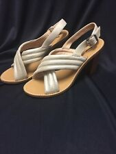 J.Crew NEW Metallic Marcie Sandals Gold Suede Size 8.5 $168 C1390 Sold Out!