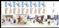 NORWAY - NORVEGIA - Libretto - 1997 - Natale - Slitte - 5 coppie pari a 10 x 35k