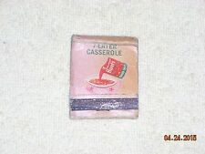Vintage Hunts Tomato Sauce 7 Layer Casserole Recipe Matchbook NO MATCHES