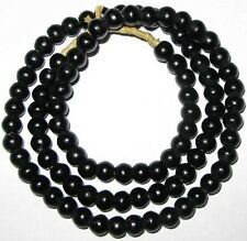 NICE VINTAGE Black 8mm PADRE AFRICAN TRADE BEADS