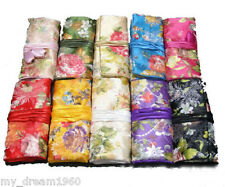 Wholesale 10PCS CHINESE HANDMADE SILK JEWELRY ROLLS /WALLET /PURSE