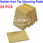 20pcs Soldering Iron Cleaner Replacement Sponges Solder Tip Cleaning Pad New AU
