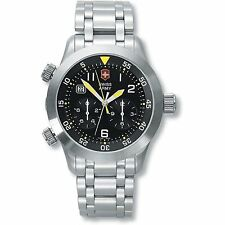 VICTORINOX SWISS ARMY 24043 AIR BOSS MACH 3 WATCH 1/10TH SECOND CHRONOGRAPH