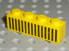 LEGO Train Yellow Brick with grille ref 3010p04 / Set 374 744 & 162 Locomotive