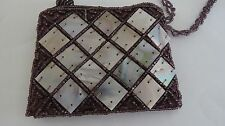 MAID BAGS  MULTI-COLOR  MOTHER OF PEARL BEADS EVENING  BAG