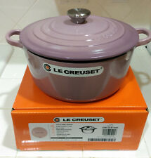 *RARE* Le Creuset Mauve Pink 4.5 Qt Round French Dutch Oven New Box Japan Import