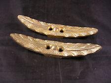 Ornement bronze ancien, 2 poignées, boutons, meuble, feuille de palmier, Empire