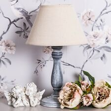 Grey Table Lamp French Lounge Decor Shabby Vintage Chic Hall Lighting Chic Home