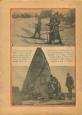 Sports d'hivers en Suisse / Monument San Diego California USA 1928 ILLUSTRATION