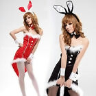 New Pleuche Sexy Bunny Girl Cosplay Costume Christmas Xmas Party Outfit Clubwear