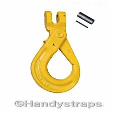 16mm Clevis Self Locking Hooks with Latch -  Lifting Chain hooks