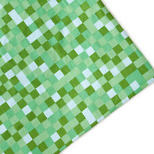Green Pixels Print Arts & Crafts Upholstery Fabric Polycotton Textile Material