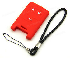 Red Silicone Case Cover For Chevrolet Corvette C6 Keyless Fob Remote Smart Key