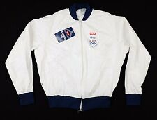 Vtg 1980 Levi's Olympic Games Paper Jacket Medium moscow soviet union levis
