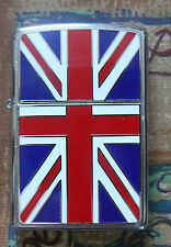 UNION JACK FLAG EMBLEM ZIPPO LIGHTER FREE P&P FREE FLINTS