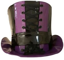 One Off Purple/black Gothic PVC Top hat Size 58