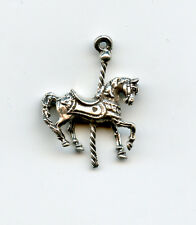 Sterling silver Carousel Horse 3D charm 3gr 15x15mm