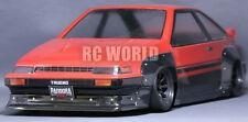1/10 RC Car Body Shell TOYOTA AE86 TRUENO N2  Drift  W/ Light Buckets