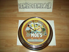 THE SIMPSONS,MOES TAVERN LIGHT UP WALL CLOCK,MAN CAVE ADDITION,WORKS PERFECTLY.