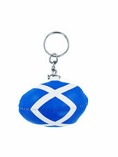 mini RUGBY BALL keychain keyring key chain ring leather flag SCOTLAND  Shirt