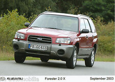 Foto de prensa Subaru Forester 2.0 x 9 03 foto press photo 17,8x12,7 cm auto turismos