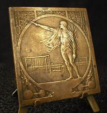 Médaille sport gymnastique circa 1900 compétition UFOLEP Stade stadium medal 铜牌