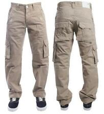 New Mens Eto 226 Beige Straight Leg Combat Chino Jeans Pockets Size 32S RRP £45