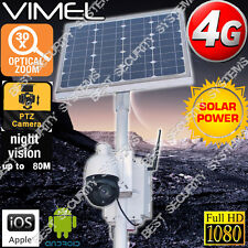 4G Wireless Security Camera 30X 120G 1080P Zoom Solar Farm Home PTZ Live View