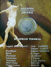 2000 Thomas Cup 1 Ringgit Coin Card