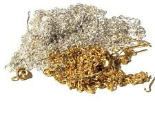 (40g) vintage jewelry chandelier loop head connector pins gold silver tone chain