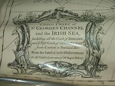 Antique 1745 Map R W Seale Correct Chart of St Georges Channel Irish Sea Ireland
