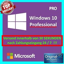 Win 10 Pro (Windows 10 Professional) 32/64 Bits Product Key Lizenzschlüssel