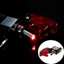 Red LED Toggle Engine Ignition Switch Start Starter Button Universal Fit Car SUV