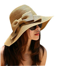 Bohemian Fashion Summer Sun Floppy Hat Straw Beach Wide Large Brim Cap Special