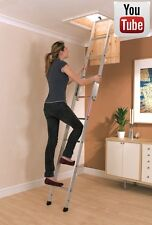 ALUMINIUM LOFT LADDER 2 SECTION YOUNGMAN | WITH INSTALLATION VIDEO