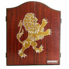 WINMAU DARTBOARD CABINET - WC4061 - Rosewood Lion - Man Cave