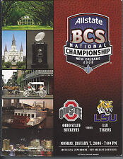 2008 Ohio State LSU Louisiana State National Championship BCS football program