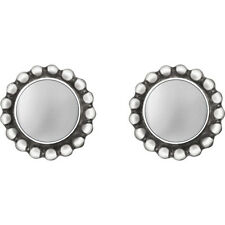 Georg Jensen Silver Earrings # 9 - MOONLIGHT BLOSSOM - HERITAGE COLLECTION