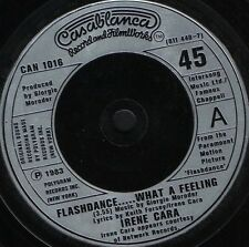 "IRENE CARA flashdance what a feeling 7"" WS EX/ CAN 1016"
