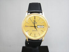 OMEGA Seamaster Vintage Quartz Day Date Men's Watch Gold Plated Cal.1345 Rare