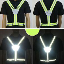 Reflective Running Vest Belt High-Profile Colour for Cycling Night Jogging